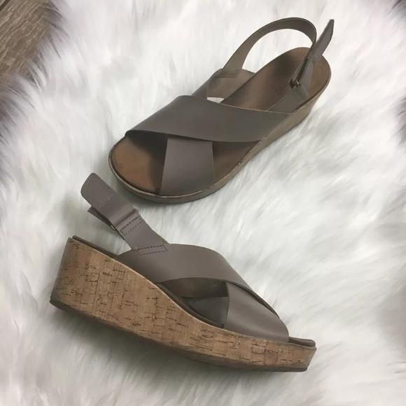b5a4c3ad4f Clarks Shoes | Annadel Eirwyn Slingback Wedge Sandals 95 | Poshmark